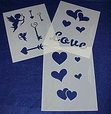 Buy 3 Piece Valentines Stencil Set
