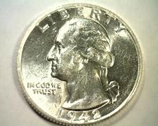 Buy 1942 WASHINGTON QUARTER CHOICE ABOUT UNCIRCULATED++ CH. AU++ NICE ORIGINAL COIN