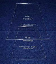 """Buy 6"""" & 8"""" Tumbler Set Quilt Template - With Seam Allowance -Clear 1/8"""" Acrylic"""