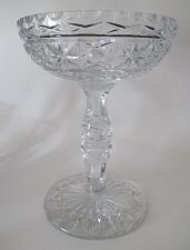 Buy Large Hand Cut Glass compote crystal 8.5 lbs