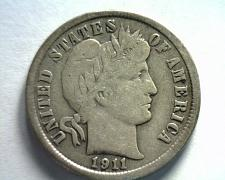 Buy 1911 BARBER DIME VERY FINE VF NICE ORIGINAL COIN FROM BOBS COINS FAST SHIPMENT
