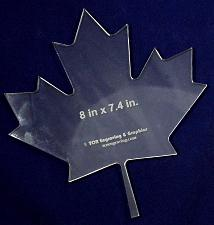 "Buy Maple Leaf Template 8""H X 7.4""W - Clear ~1/4"" Thick Acrylic-"