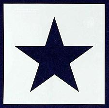 """Buy Single Star Stencil 14 Mil -10.5"""" X 10.5"""" Overall - Painting /Crafts/ Templates"""