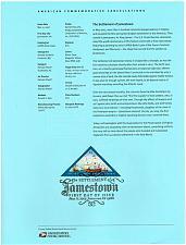 Buy US #SP1637 (4136) Settlement of Jamestown Souvenir Page (5Stars) |USASP1637-01