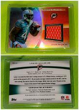Buy NFL Lamar Miller Miami Dolphins 2012 Topps Platinum Game-worn Jersey Mint