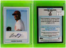Buy MLB CESAR VALDEZ DIAMONDBACKS AUTOGRAPHED 2010 BOWMAN ROOKIE CARD MNT