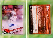 Buy MLB TY BLACH SAN FRANCISCO GIANTS AUTOGRAPHED 2017 TOPPS CHROME ROOKIE MINT