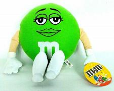 Buy NWT M&M's Green Chocolate Candy Female Plush Stuffed Animal 11""