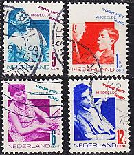 Buy NIEDERLANDE NETHERLANDS [1931] MiNr 0245-48 A ( O/used )