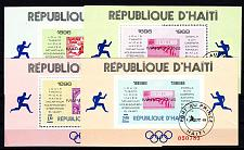 Buy HAITI [1969] MiNr 1044 Block 35-38 ( O/used ) Olympiade