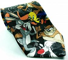 Buy Looney Tunes Mania Taz Bugs Bunny Tweety Wile E Coyote Daffy Novelty Necktie