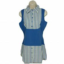 Buy Kathleen Kirkwood Dictra-Ease Chambray Shirttail Top Small Blue White Striped