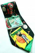 Buy Golf Equipment Advertising Ads Ball Tees Golf Bag Novelty Silk Tie