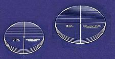 "Buy 2 Piece Circle Set - No Seam 7"" - 8"" ~ 1/4"" Thick - Long Arm -Multi Use"