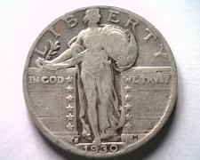 Buy 1930-S STANDING LIBERTY QUARTER FINE+ F+ NICE ORIGINAL COIN BOBS COINS FAST SHIP
