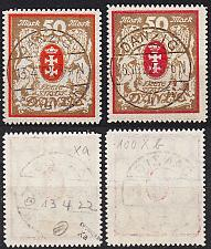 Buy GERMANY REICH Danzig [1922] MiNr 0100 xa,xb ( O/used ) [01]