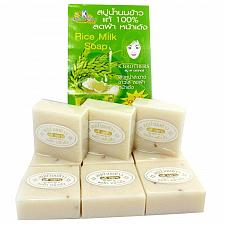 Buy 12 BARS JASMINE RICE MILK SOAP K.BROTHERS BATH BODY WHITENING COLLAGEN +TRACK