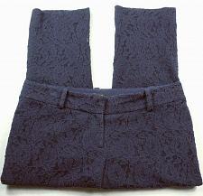 Buy Ann Taylor Women's Petites Casual Pants Size 8P Floral Blue Lace Stretch