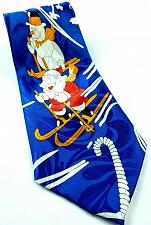 Buy Santa Claus Snowman Skiing Christmas Holiday Candy Canes Novelty Polyester Tie
