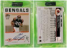 Buy NFL Chris Perry Cincinnati Bengals Autographed 2004 Topps Signature RC /999 Mnt