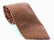 Buy Jos A Bank Men's Dress Necktie 100% Silk Geometric Blue Brown Silver