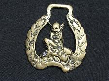 Buy Antique Vintage Horse Brass Decorative Tack Bridle Devil Demon Gargoyle Rare