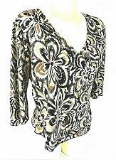 Buy Dressbarn womens PL beige olive green RAINBOW sequined faux WRAP top (X)PMTD