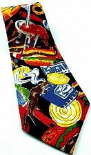 Buy Junk Food Hamburger Fries Sugar Milk Shake Soda Novelty Polyester Tie