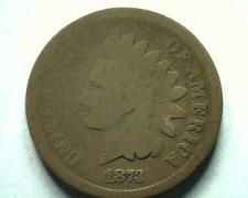 Buy 1873 OPEN 3 INDIAN CENT PENNY GOOD G NICE ORIGINAL COIN BOBS COINS FAST SHIP