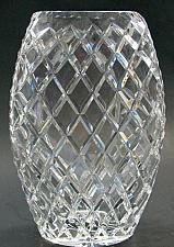 Buy Hand cut crystal oval vase award Space for engraving glass gift