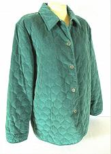 Buy Alfred Dunner womens Sz 14 L/S green QUILTED button down fully lined jacket (B8)