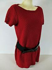 Buy ANA womens Large S/S red TEXTURED belted sweater (B8)