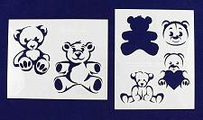 "Buy Teddy Bear -2 Piece Stencil Set 14 Mil 8"" X 10"" Painting /Crafts/ Templates"