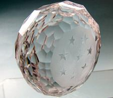 Buy Hand cut glass paperweight stars