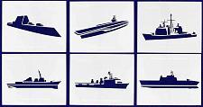 "Buy U.S. Navy Ships-- 6 Piece Stencil Set 14 Mil 8"" X 10"" Painting /Crafts/ Template"
