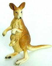 Buy Schleich Kangaroo With Joey In Pouch Animal Figure Retired 2000