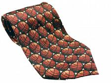 Buy Basketball Print NBA Sports Men's Necktie Novelty Orange Silk