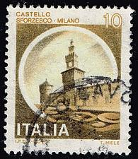 Buy Italy #1409 Sforzesco Castle; Used (3Stars) |ITA1409-08