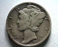 Buy 1931-S MERCURY DIME VERY FINE / EXTRA FINE VF/XF VERY FINE /EXTREMELY FINE VF/EF