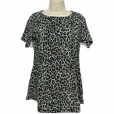 Buy Denim & Co. Regular Fit & Flare Knit Tunic Size XS Leopard Print Boat Neck