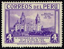 Buy Peru #325 Lima Cathedral; Unused (4Stars) |PER0325-01XRS