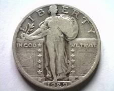 Buy 1929 STANDING LIBERTY QUARTER FINE+ F+ NICE ORIGINAL COIN FROM BOBS COINS