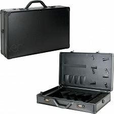 Buy Mens Black Matte Barber Clipper Trimmer Scissors Shear Storage Carrying Case New