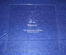 """Buy Square Template 10"""" - Clear 1/8"""" with Seam Allowance"""