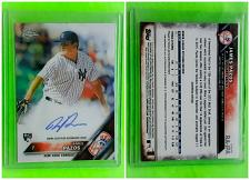 Buy MLB JAMES PAZOS NEW YORK YANKEES AUTOGRAPHED 2016 TOPPS CHROME RC MINT