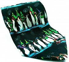 Buy Penguins Wearing Hats Scarves Christmas Trees Novelty Silk Tie