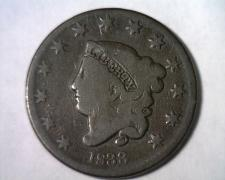 Buy 1833 CORONET TYPE LARGE CENT PENNY VERY GOOD VG N.1 RARITY 2 NICE COIN BOBS COIN