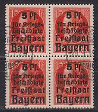 Buy GERMANY Bayern Bavaria [1919] MiNr 0172 4er ( O/used ) [01]