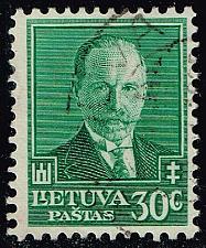 Buy Lithuania #284 Pres. Antanas Smetona; Used (3Stars)  LIT0284-01XRP