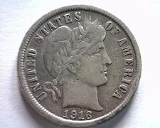 Buy 1916 BARBER DIME EXTRA FINE XF EXTREMELY FINE EF NICE ORIGINAL COIN BOBS COINS